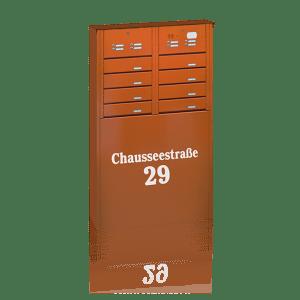Briefkästen und Klingelkasten in Mehrfachanlagen individuell montiert | Bergmann Zaun